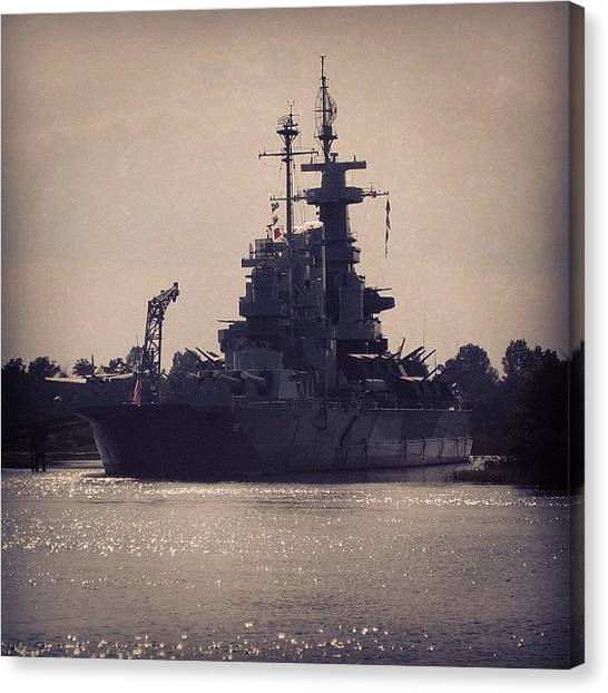 Battleship Canvas Print - Instagram Photo by Eunice De Moraes