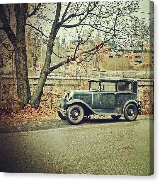 Ford Canvas Print - Deserted by Alexander Wallem