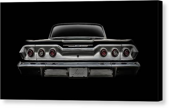 Vintage Chevrolet Canvas Print - '63 Impala by Douglas Pittman