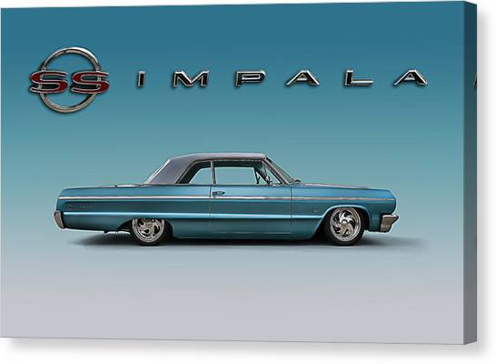 Chevy Canvas Print - '64 Impala Ss by Douglas Pittman