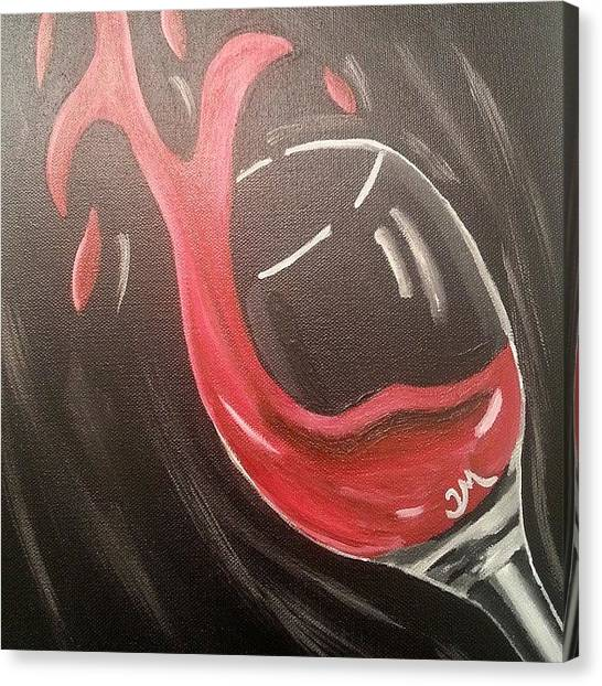 Red Wine Canvas Print - Cheers by Ty Mabry