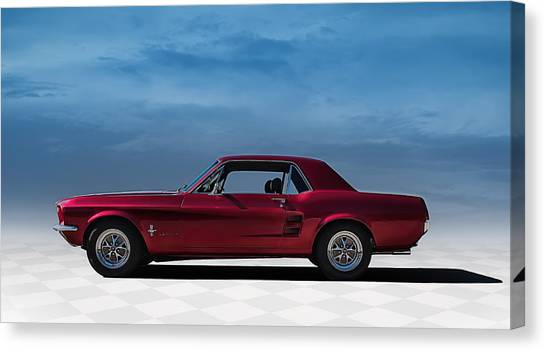 Ford Mustang Canvas Print - 67 Mustang by Douglas Pittman