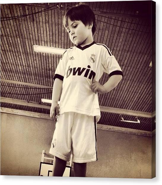 Soccer Players Canvas Print - Instagram Photo by Chokolars Sorensen