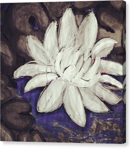 Bamboo Canvas Print - Lotus Flower by Paige Edwards