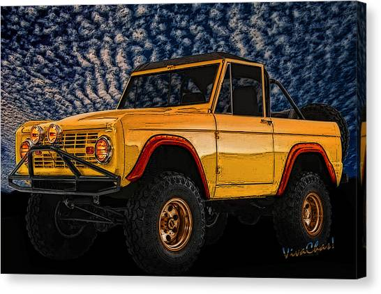69 Ford Bronco 4x4 Restoration Canvas Print