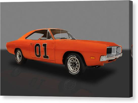 1969 General Lee Dodge Charger Canvas Print