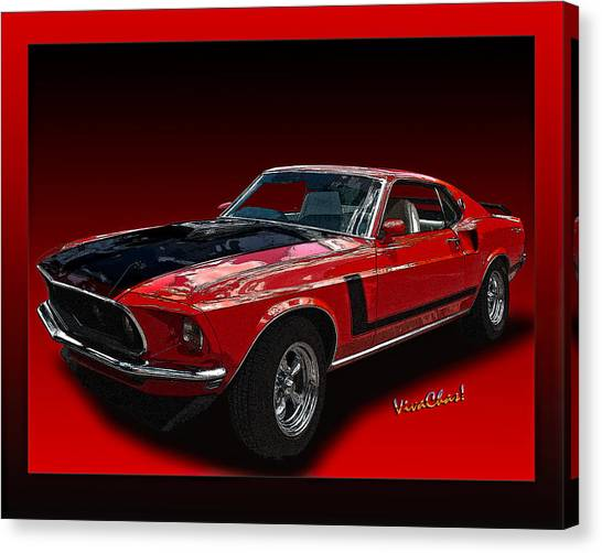 69 Mustang Mach 1 Canvas Print