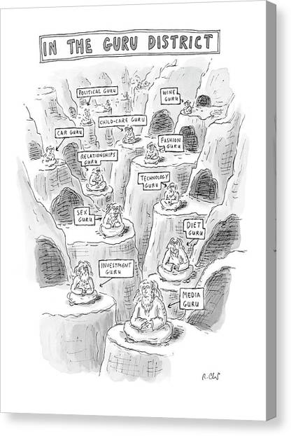 Etc Canvas Print - New Yorker March 10th, 2008 by Roz Chast