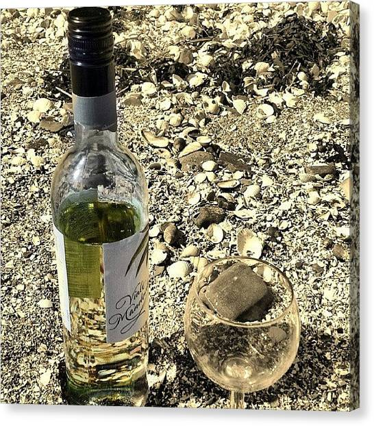 White Wine Canvas Print - Instagram Photo by Vicky Combs
