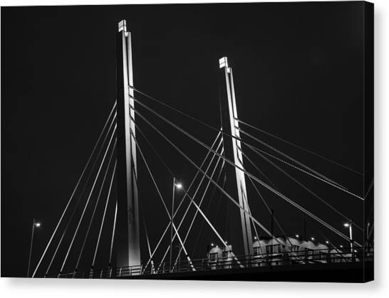 6th Street Bridge Black And White Canvas Print
