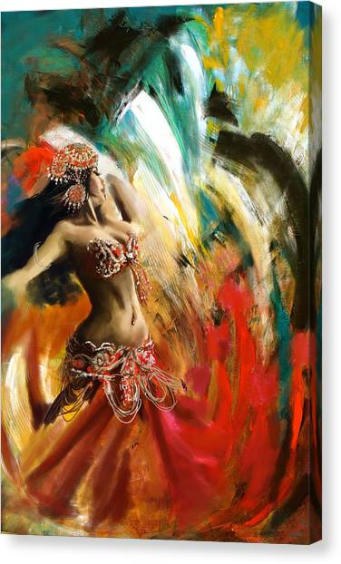 Egyptian Art Canvas Print - Abstract Belly Dancer 19 by Corporate Art Task Force
