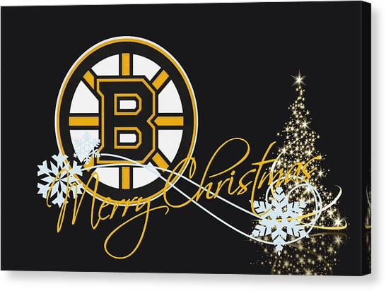 Ice Skating Canvas Print - Boston Bruins by Joe Hamilton