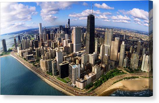 Hancock Building Canvas Print - Chicago Il by Panoramic Images