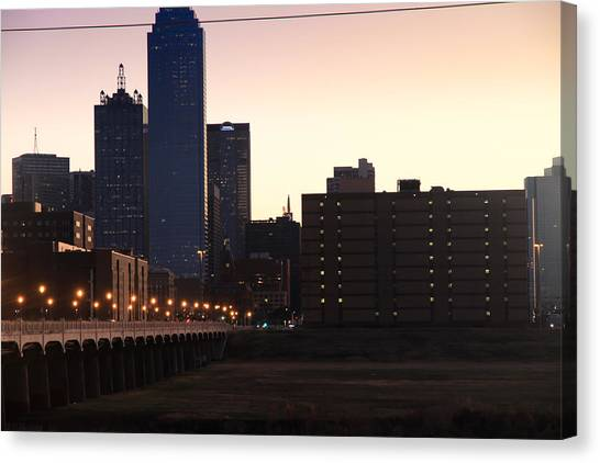 City Of Dallas Canvas Print by Tinjoe Mbugus