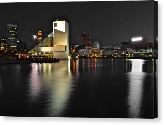 Jimmy Page Canvas Print - Cleveland Ohio by Frozen in Time Fine Art Photography