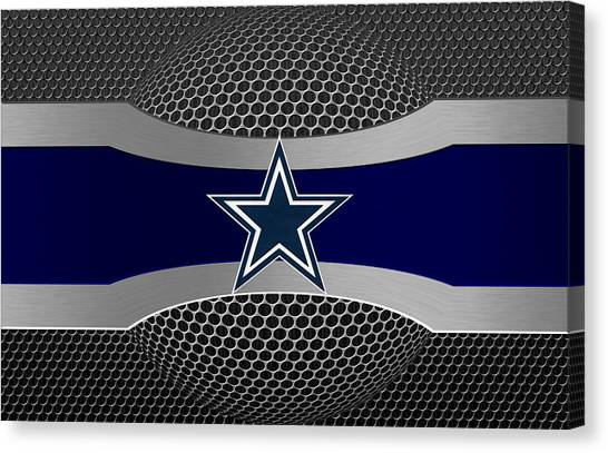 Nfl Canvas Print - Dallas Cowboys by Joe Hamilton
