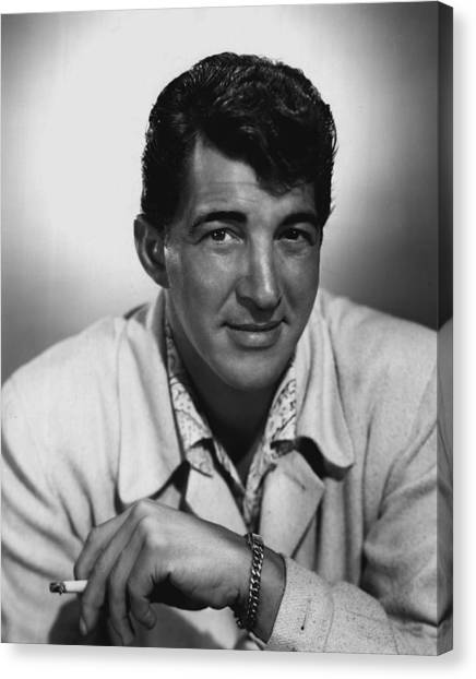 Beverly Hills Canvas Print - Dean Martin by Retro Images Archive
