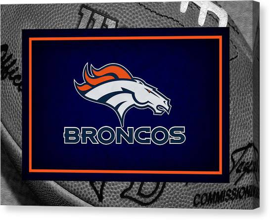 Denver Broncos Canvas Print - Denver Broncos by Joe Hamilton