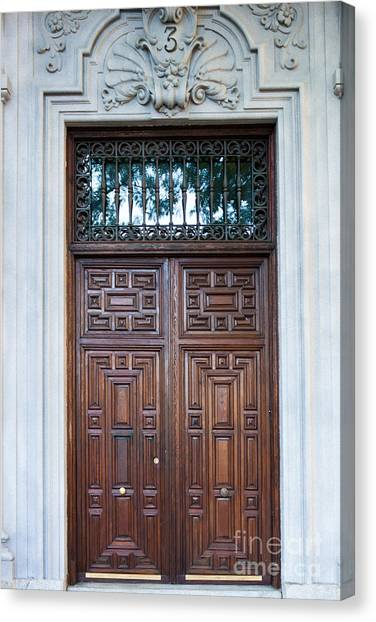 Distinctive Doors In Madrid Spain Canvas Print
