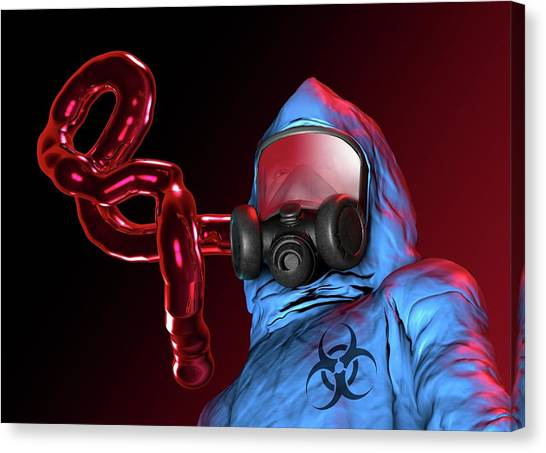 Protective Clothing Canvas Print - Ebola Epidemic by Victor Habbick Visions
