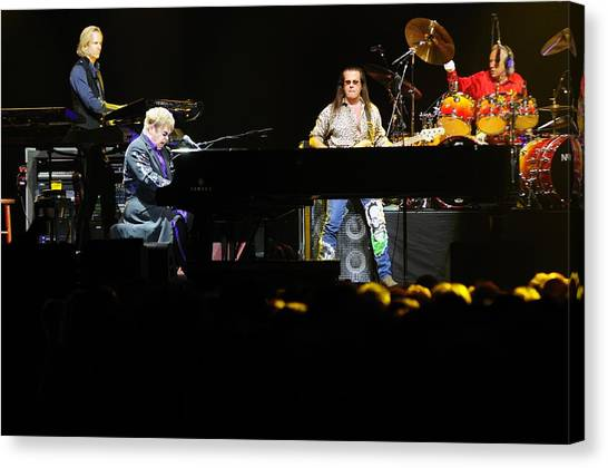 Elton John Canvas Print - Elton John by Jenny Potter