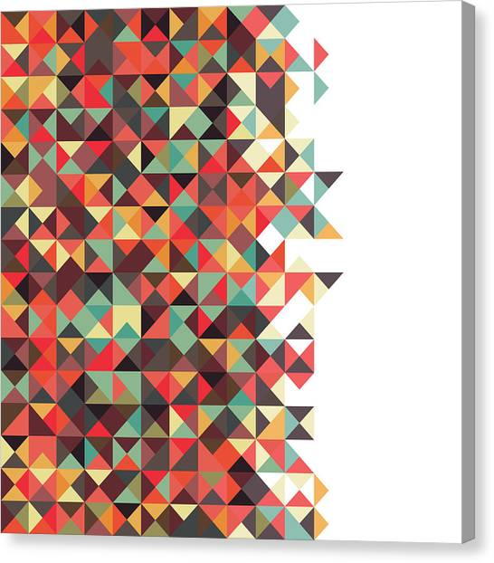 Repeat Canvas Print - Geometric Art by Mike Taylor