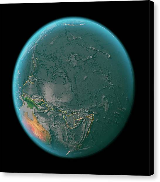 Fire Ball Canvas Print - Global Tectonics by Karsten Schneider/science Photo Library