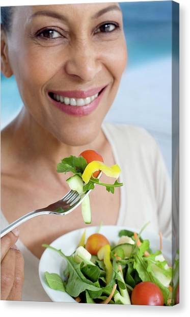 Salad Canvas Print - Healthy Eating by Ian Hooton/science Photo Library