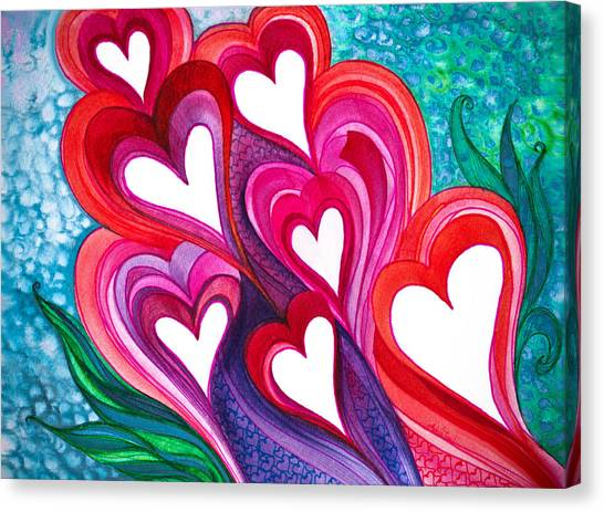 7 Hearts Canvas Print