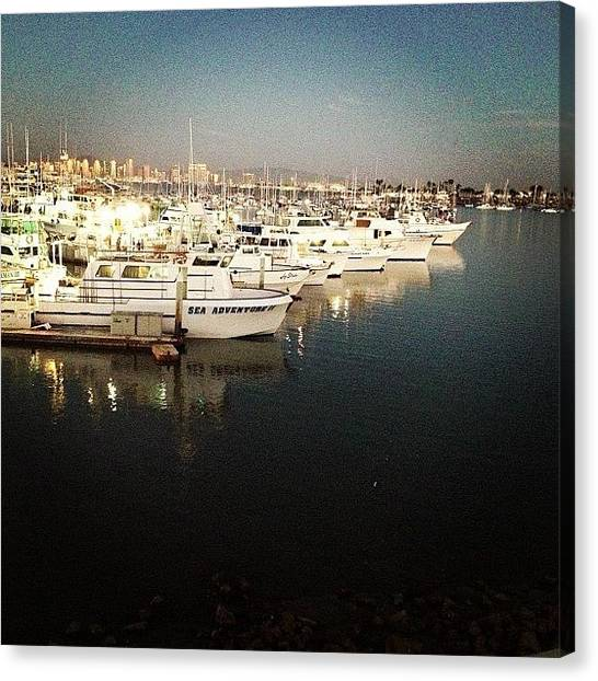 Fishing Boats Canvas Print - Instagram Photo by Lindsey  Patterson