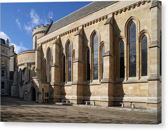 Knights Templar Temple In London Canvas Print