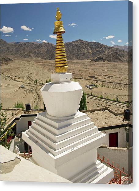 Karakoram Canvas Print - Ladakh, India Religious Structures by Jaina Mishra