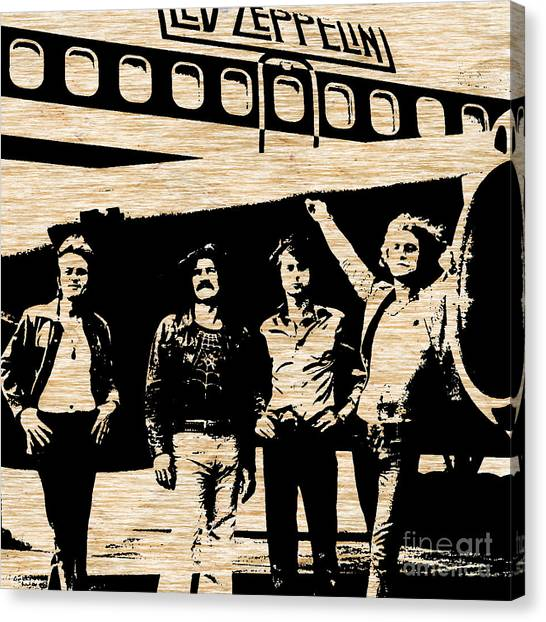 Led Zepplin Canvas Print - Led Zeppelin by Marvin Blaine