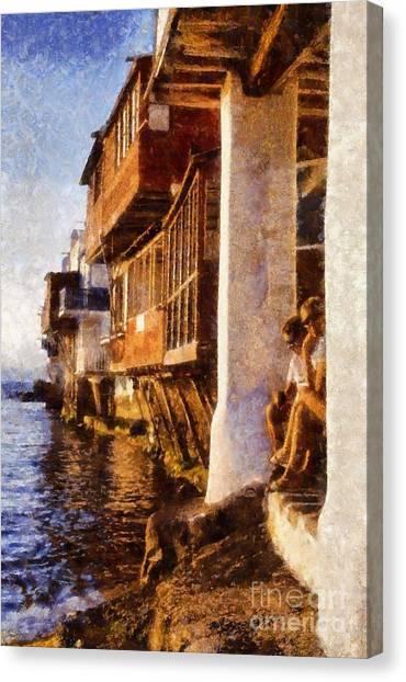 Sundown Canvas Print - Little Venice During Sunset by George Atsametakis