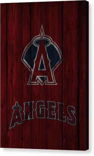 Los Angeles Angels Canvas Print - Los Angeles Angels by Joe Hamilton