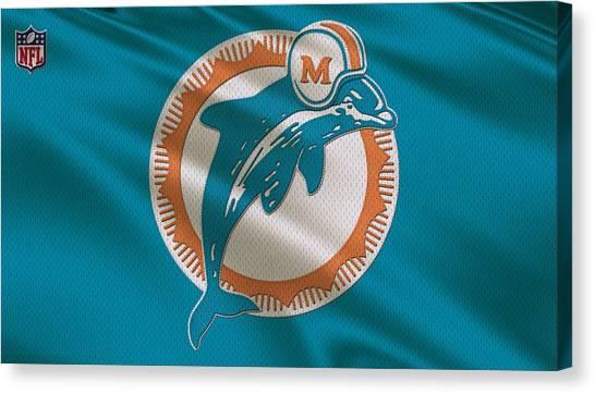 Miami Dolphins Canvas Print - Miami Dolphins Uniform by Joe Hamilton