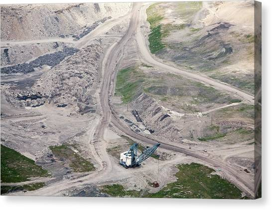 Mountaintop Removal Coal Mining Canvas Print by Jim West