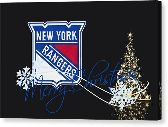New York Rangers Canvas Print - New York Rangers by Joe Hamilton