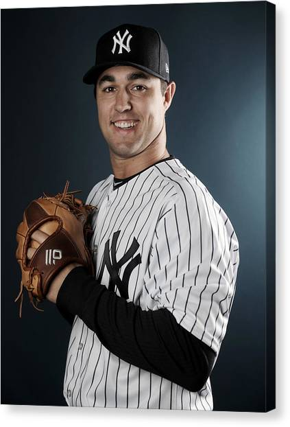New York Yankees Photo Day Canvas Print by Elsa