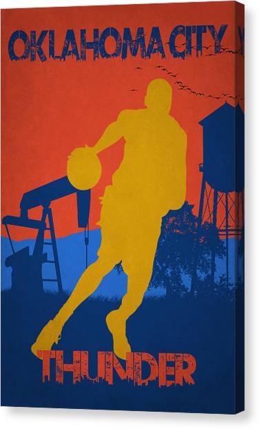 Oklahoma City Thunder Canvas Print - Oklahoma City Thunder by Joe Hamilton