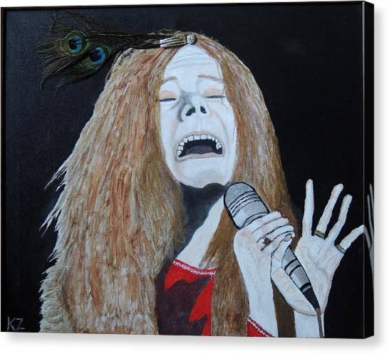 Piece Of My Heart. Janis. Canvas Print
