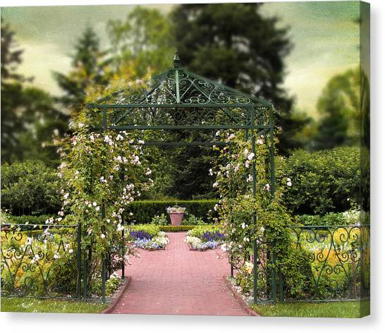 Arbor Canvas Print - Rose Arbor by Jessica Jenney