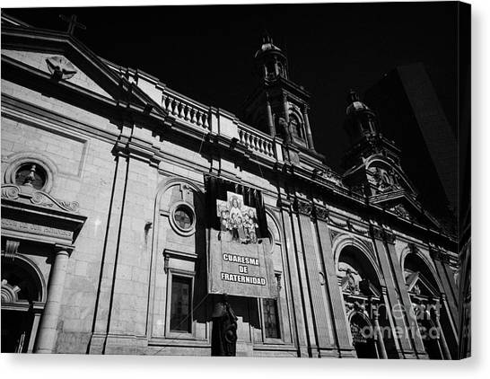 Santiago Metropolitan Cathedral Chile Canvas Print by Joe Fox