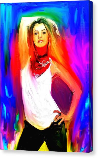 Shakira Canvas Print - Shakira by Bogdan Floridana Oana