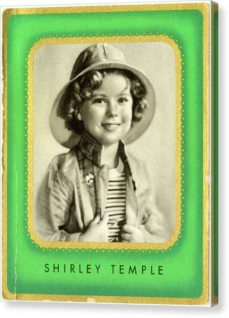 Shirley Temple Canvas Print - Shirley Temple (1928 -2014), American by Mary Evans Picture Library