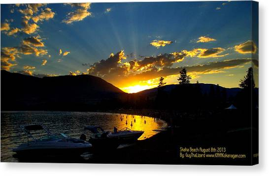 Skaha Lake Sunset Canvas Print