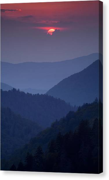 Wilderness Canvas Print - Smoky Mountain Sunset by Andrew Soundarajan