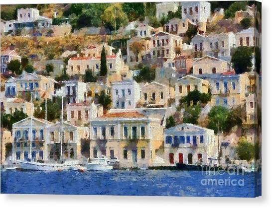 Symi Island Canvas Print