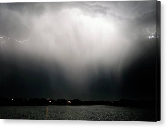 Hailstorms Canvas Print - Thunderstorm And Lightning by Jim Reed Photography/science Photo Library
