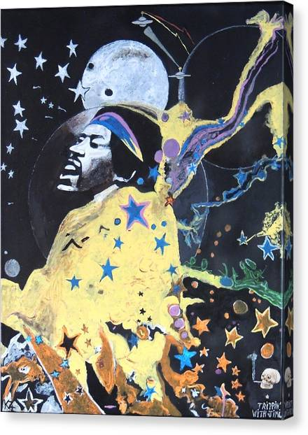 Trippin' With Jimi. Canvas Print
